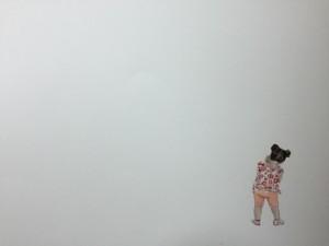 Detalle dun dos cadros de Ana Seoane